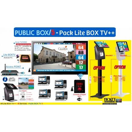 PACK LaboBOXTV/5 - Gestion d'attente pour LABORATOIRES, configurable de 1 à 5 Postes - Ecran TV NON Fourni