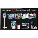 PACK LaboLITEBOXTV5 Gestion d'attente pour LABORATOIRES, configurable de 1 à 5 Box - Ecran TV NON Fourni