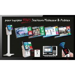 PACK PharmaBOXTV/5 - Gestion d'attente pour PHARMACIES, configurable de 1 à 5 Caisses - Ecran TV NON Fourni
