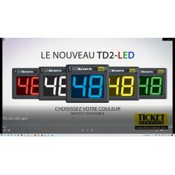 Afficheur seul 2 chiffres LED (disponible en 7 couleurs)