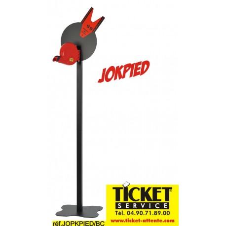 Pied mobile Noir pour Distributeur de Tickets (livré avec sa pancarte info) - Distributeur NON INCLUS