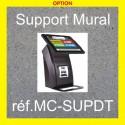 Support mural pour distributeur de ticket à écran tactile