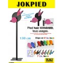 JOKPIED - Pied mobile Noir STANDARD (130 cm) pour Distributeur de Tickets - Distributeur NON INCLUS