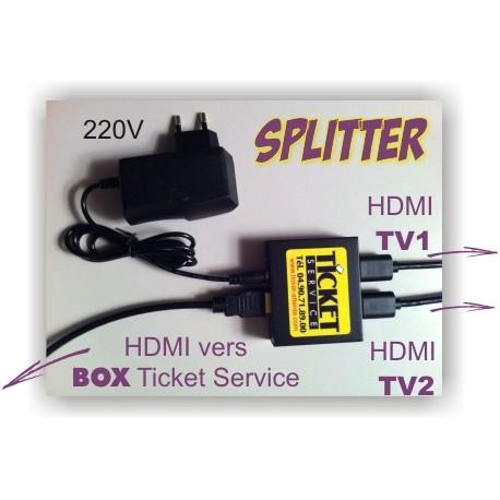 SPLITTER pour relier 2 écrans TV