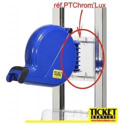 Patte de Fixation - Transparente - pour Distributeur de Tickets, sur Black'Lux/Crom'Lux ou Mural.