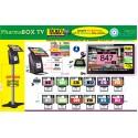 PACK PharmaBOXTV/12 de gestion d'attente pour PHARMACIES, configurable de 1 à 12 Caisses - Ecran TV NON Fourni