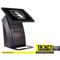 """Distributeur de Ticket à écran TACTILE de 9.7"""" (à fixer au mur ou sur pied)"""