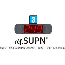 Support métal, pour N° identification Mini-Afficheur de Guichet : CD 2 & CD3 de la gamme MULTIPOINT