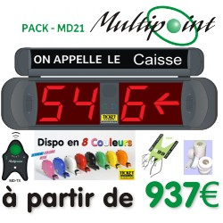 PACK MULTIPOINT MD21 (2+1) - Gestion d'attente pour PHARMACIES, configurable jusqu' à 09 Caisses