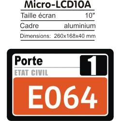 Ecran LCD 10' répétiteur de numéro pour Caisses/Bureau/Poste/... pour PharmaBOX TV-MT