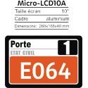 Ecran LCD 10' répétiteur de numéro pour Caisses/Bureau/Poste/... pour PublicBOX TV