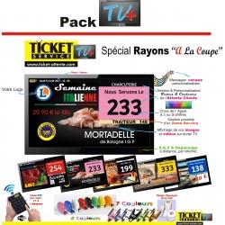 PACK TV+ - Gestion des files d'Attente Clients - sur écran TV - pour Commerces Alimentaires - Ecran TV NON Fourni