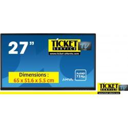 """Ecran TV 27"""" - en OPTION pour Pack TV & TV+ - Gestion de file d'attente, Commerces Alimentaires."""