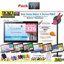 PACK TV+ - Gestion de file d'attente patients pour Laboratoires - Ecran TV NON Fourni