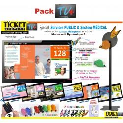 PACK TV+ - Gestion de file d'attente pour Services Publics et Administration - Ecran TV NON Fourni