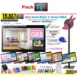 PACK TV+ - Gestion de file d'attente patients pour Cabinets Médicaux - Ecran TV NON Fourni