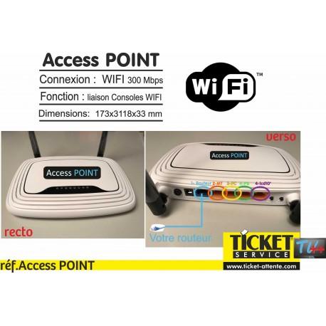 Access POINT : boitier nécessaire, pour utilisation Consoles d'Appel WIFI, sur : COMMERCES / LABO & PHARMACIES