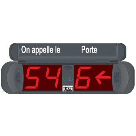 Afficheur 2+1 Chiffres lumineux rouge et flèche indication n° Porte