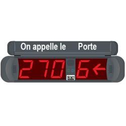 Afficheur 3+1 Chiffres lumineux rouge et flèche indication du numéro de caisse